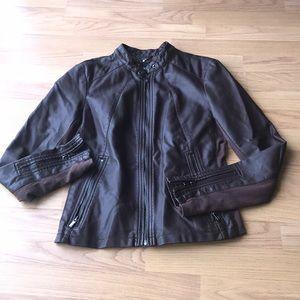 EXPRESS Brown Moto Jacket